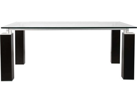 Star International Furniture Ritz Tiffany Dining Table Base with 75'' x 42'' Rectangular Clear Top
