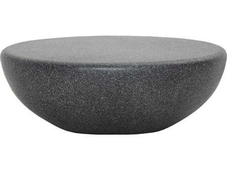 Star International Furniture Ritz Pebble Granite 39.5'' x 27.5'' Oval Coffee Table