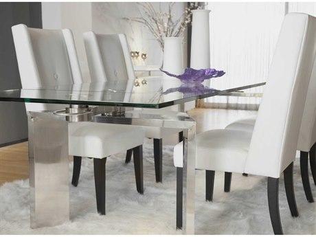 Star International Furniture Ritz Mo Dark Grey High Gloss 110'' x 39.5'' Rectangular Dining Table