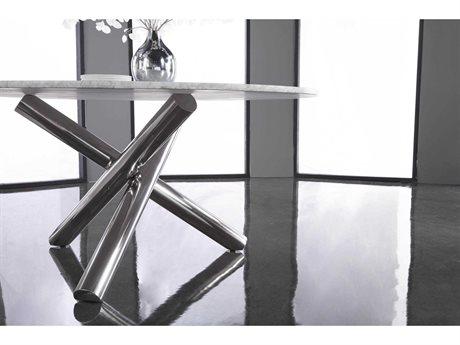 Star International Furniture Ritz Gotham Stainless Steel 46'' x 46'' Dining Table Base