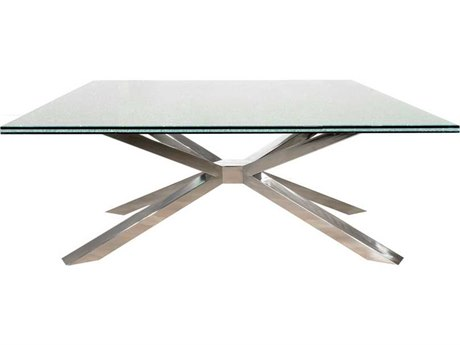 Star International Furniture Ritz Mantis Stainless Steel 55'' x 31.5'' Coffee Table Base