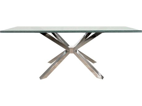 Star International Furniture Ritz Mantis Stainless Steel 59'' x 20'' Console Table Base