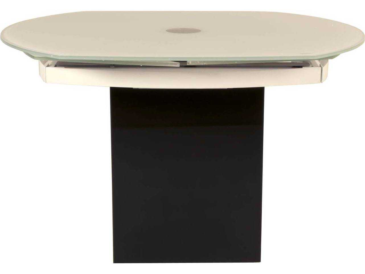 Star International Furniture Ritz Era Super White Glass With Matte White Granite 47 5 39 39 X 39 5