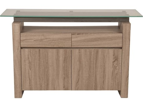 Star International Furniture Ritz Trave Natural Driftwood, Metal & Glass 59'' x 20'' Buffet