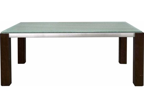 Star International Furniture Ritz Veronica Dining Table Base with 75'' x 42'' Clear Crackled Top