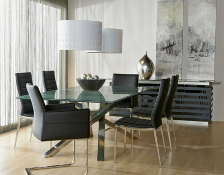 Star International Furniture Ritz Illusione Dining Room Set
