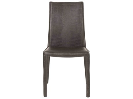 Star International Furniture Ritz Luca Matte Black Crocodile Bonded Leather Dining Side Chairs (Sold in 2)