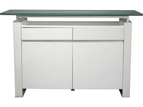 Star International Furniture Ritz Tiffany White High Gloss Acrylic Lacquer 49.5'' x 18'' Buffet Base