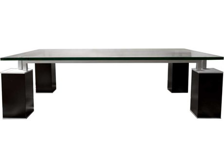 Star International Furniture Ritz Tiffany Dark Walnut Acrylic Lacquer 55'' x 31.5'' Rectangular Coffee Table Base