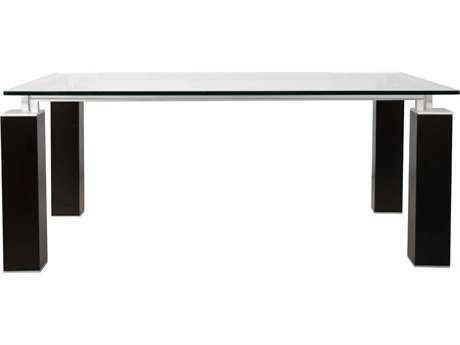 Star International Furniture Ritz Tiffany Dark Walnut Acrylic Lacquer 74.5'' x 41.5'' Rectangular Dining Table Base