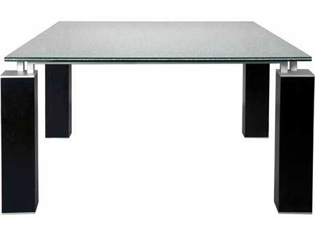 Star International Furniture Ritz Tiffany Matte Dark Grey Acrylic Lacquer 60'' x 60'' Square Dining Table Base