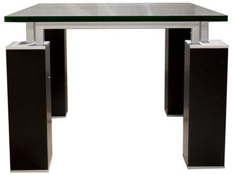Star International Furniture Ritz Tiffany Dark Walnut Acrylic Lacquer 27.5'' x 27.5'' Square End Table Base