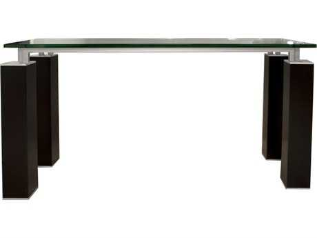 Star International Furniture Ritz Tiffany Dark Walnut Acrylic Lacquer 59'' x 19.5'' Rectangular Console Table Base