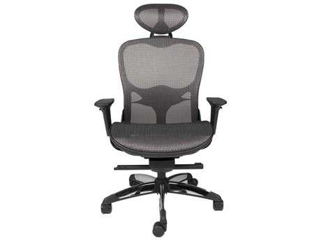 Star International Furniture Sedia Technica Black and Grey Mesh Office Chair