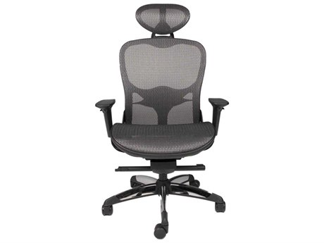 Star International Furniture Sedia Technica Black and Grey Mesh Office Chair