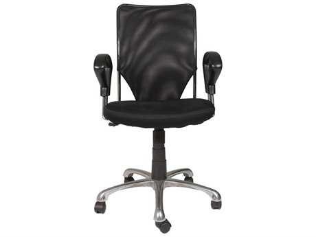 Star International Furniture Sedia Stilo Chrome and Black Mesh Office Chair