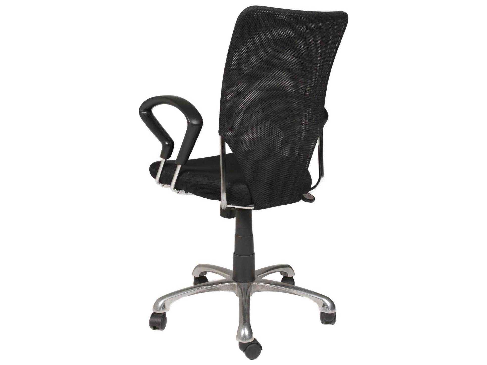 Star International Furniture Sedia Stilo Chrome And Black Mesh Office Chair