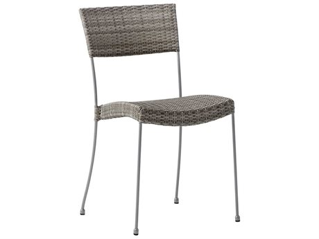 Sika Design Avantgarde Wicker Teak Grey Comet Stackable Dining Side Chair PatioLiving
