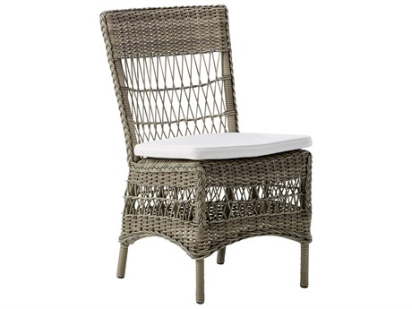 Sika Design Georgia Garden Wicker Antique Cushion Marie Dining Side Chair PatioLiving