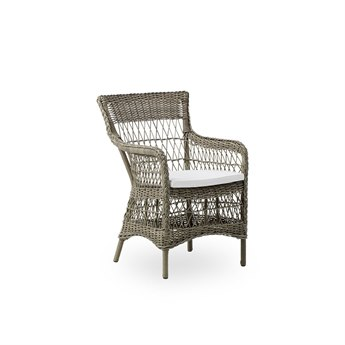 Sika Design Georgia Garden Wicker Antique Cushion Marie Dining Arm Chair PatioLiving
