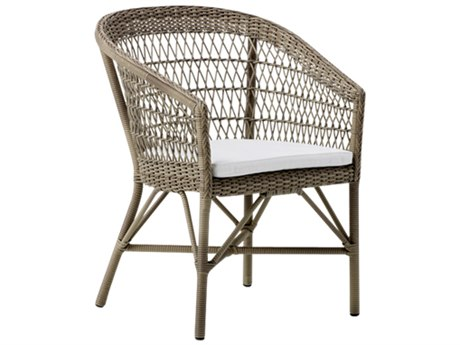Sika Design Georgia Garden Wicker Antique Cushion Emma Stackable Dining  Arm Chair PatioLiving