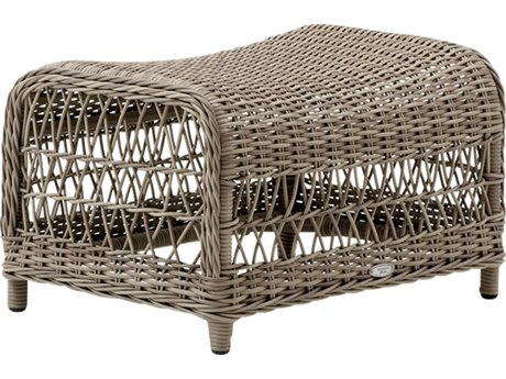 Sika Design Georgia Garden Wicker Antique Dawn Footstool PatioLiving