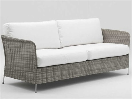 Sika Design Avantgarde Teak Grey Steel Cushion Sofa