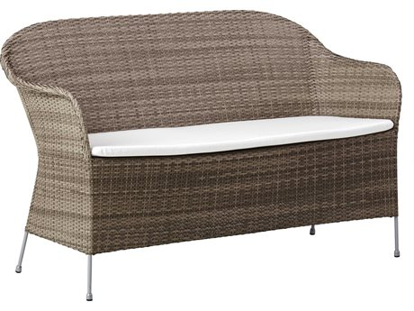 Sika Design Avantgarde Teak Grey Steel Cushion Loveseat