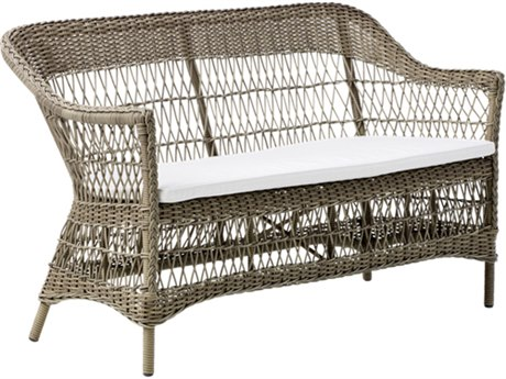 Sika Design Georgia Garden Antique Aluminum Cushion Loveseat