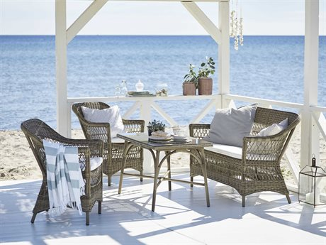 Sika Design Georgia Garden Wicker Antique Cushion Charlot Lounge Set PatioLiving