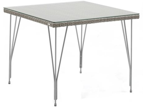 Sika Design Avantgarde 35'' Wide Steel Square Dining Table