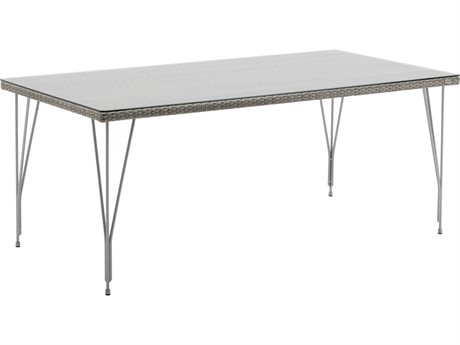 Sika Design Avantgarde 70'' Wide Steel Rectangular Dining Table