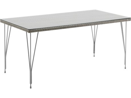 Sika Design Avantgarde 59'' Wide Steel Rectangular Dining Table
