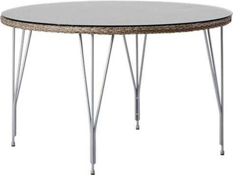 Sika Design Avantgarde 47'' Wide Steel Round Dining Table