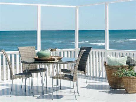 Sika Design Avantgarde Wicker Teak Grey Jupiter Dining Set PatioLiving