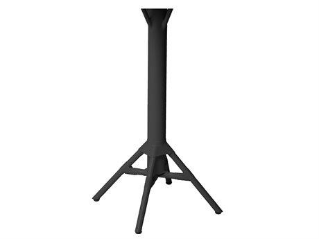 Sika Design Alu Affaire Aluminum Black Nicole Bar Table Base