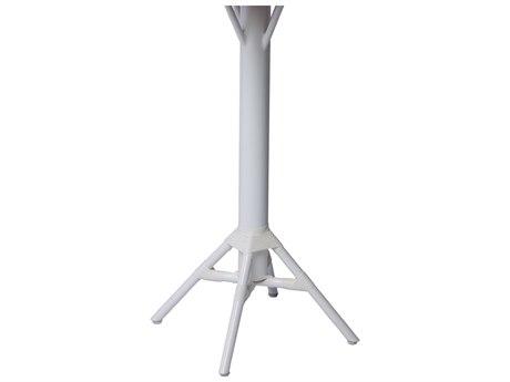 Sika Design Alu Affaire Aluminum White Nicole Bar Table Base