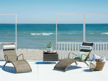 Sika Design Avantgarde Wicker Teak Grey Lounge Set PatioLiving