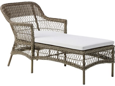 Sika Design Georgia Garden Antique Aluminum Cushion Chaise Lounge