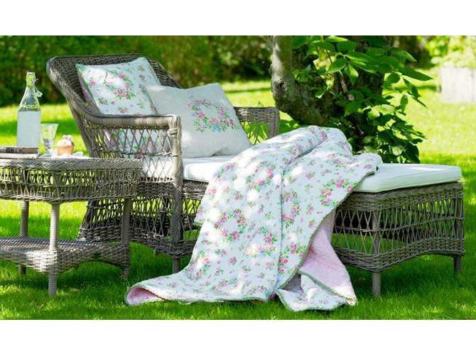 Sika Design Georgia Garden Wicker Antique Cushion Olivia Chaise Lounge Sik9590t