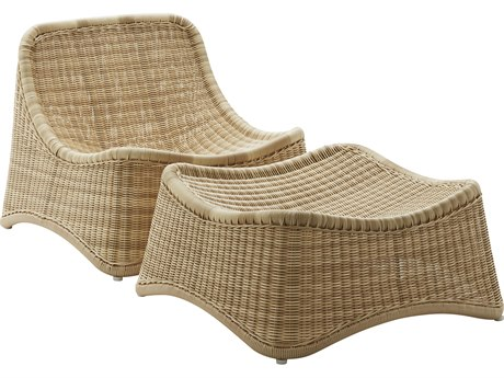 Sika Design Exterio Natural Aluminum Wicker Lounge Chair