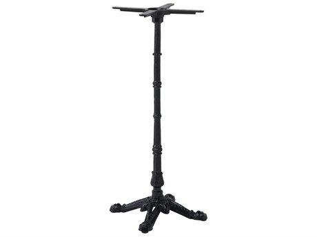 Sika Design Alu Affaire Cast Iron Black 3 Prong Bistro Table Base