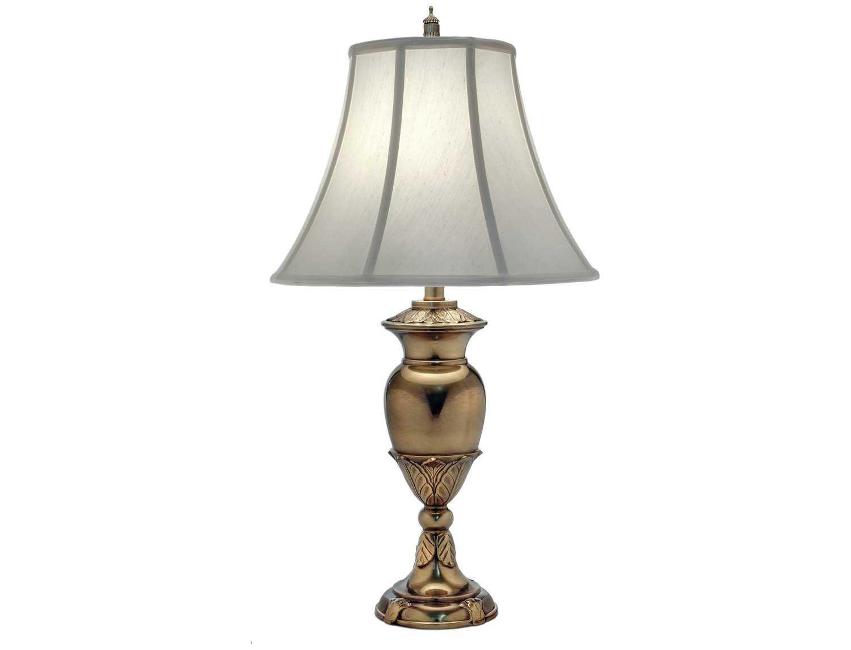 Stiffel Antique Brass Amp Pearl Supreme Satin Table Lamp