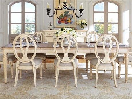 Stanley Furniture European Cottage Vintage White & White Oak 70'' x 48'' Rectangular Dining Table