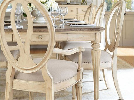 dining table stanley furniture european cottage vintage white dining side chair. Interior Design Ideas. Home Design Ideas