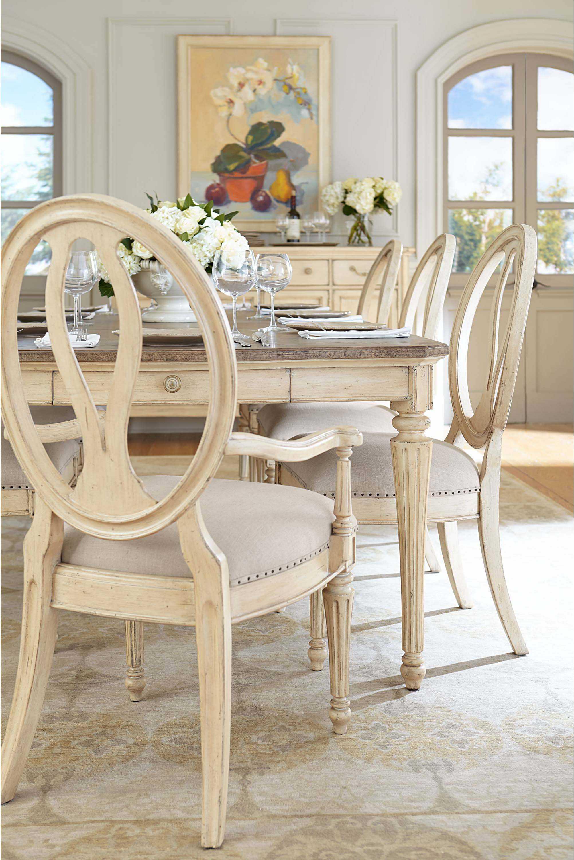 Stanley Furniture European Cottage Vintage White Dining Side Chair Sl0072160