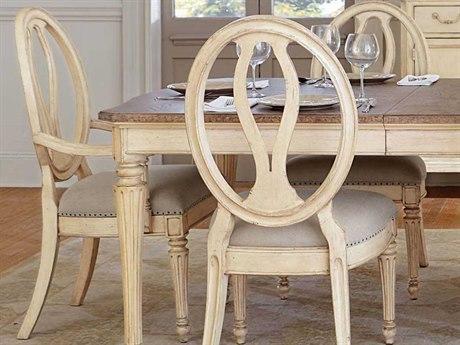 Stanley Furniture European Cottage Vintage White Dining Arm Chair