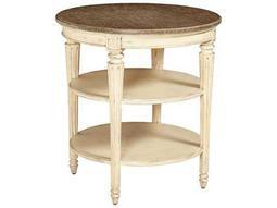 Stanley Furniture European Cottage Vintage White & White Oak 26.5'' Round End Table