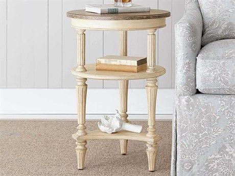 Stanley Furniture European Cottage Vintage White & White Oak 18'' Round Martini Table