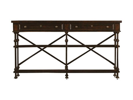 Stanley Furniture European Farmhouse Terrain 73'' x 13'' Rectangular Belgian Cross Huntboard